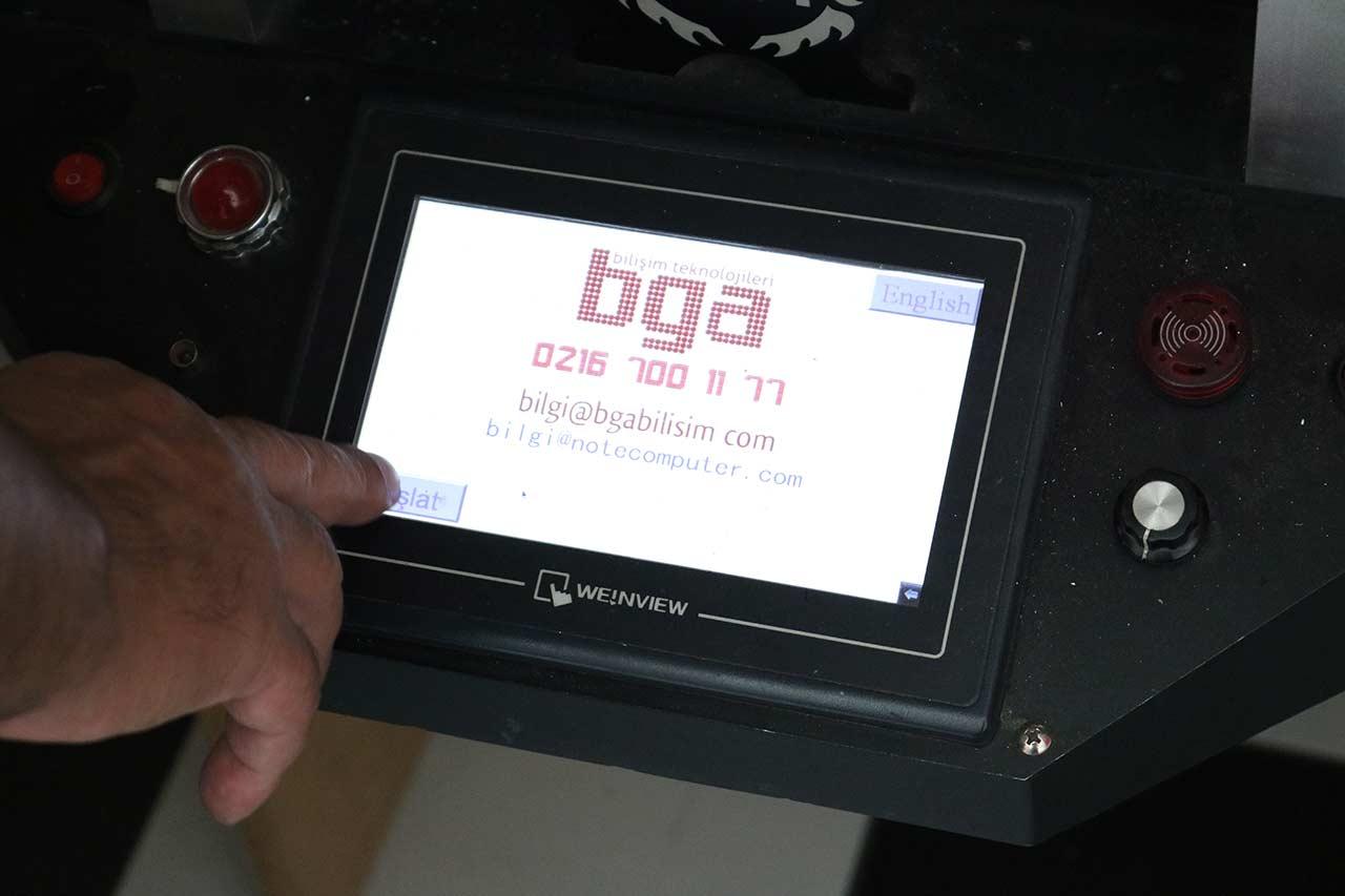 BGA Rework Dokunmatik kontrol paneli