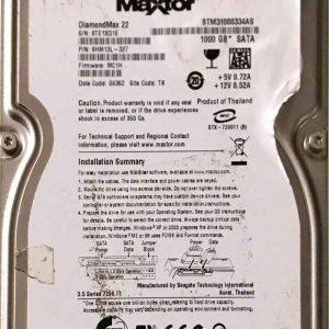 MAXTOR 1000 GB STM31000334AS 100530756 REV-A