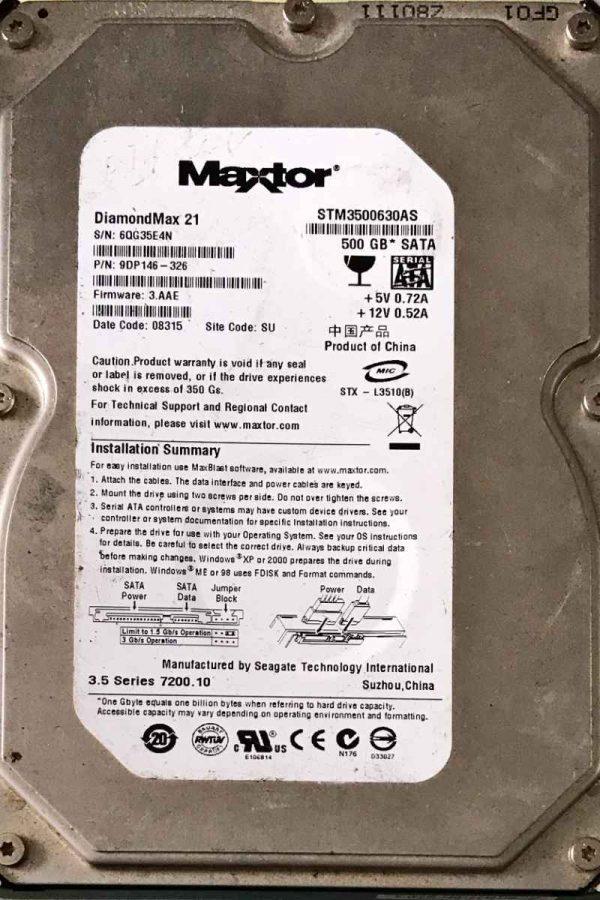MAXTOR 500 GB STM3500630AS