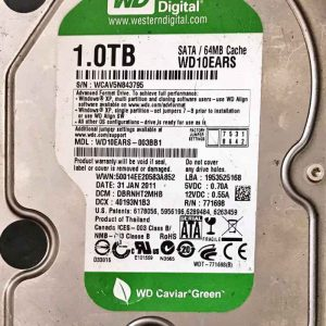 WESTERN DIGITAL 1000 GB WD10EARS 2060771698002 REV-P1