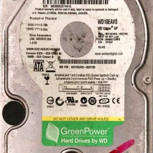 WESTERN DIGITAL 1000 GB WD10EAVS 2060701537004 REV-A