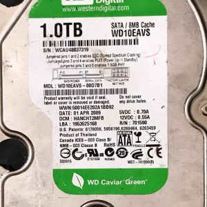 WESTERN DIGITAL 1000 GB WD10EAVS 2060701590000 REV-A