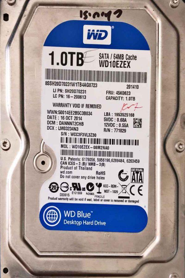 WESTERN DIGITAL 1000 GB WD10EZEX 2060771590001 REV-A