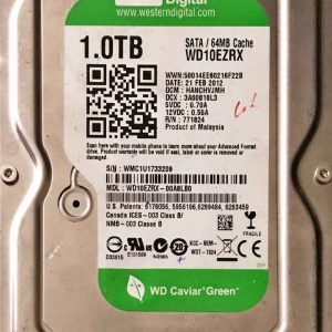 WESTERN DIGITAL 1000 GB WD10EZRX-2060771824005 REV-P1