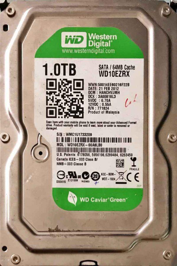 WESTERN DIGITAL 1000 GB WD10EZRX-2060771824005 REV-P1