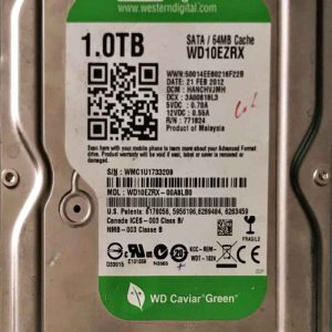 WESTERN DIGITAL 1000 GB WD10EZRX- 2060771824005 REV-P1