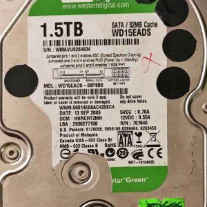 WESTERN DIGITAL 1500 GB WD15EADS 2060701640001 REV-A