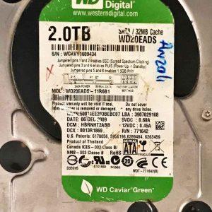 WESTERN DIGITAL 2000 GB WD20EADS-11R681 206077164200 REV-P1