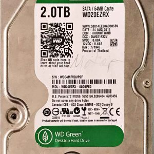 WESTERN DIGITAL 2000 GB WD20EZRX-00D8980 2060771698004 REV-A