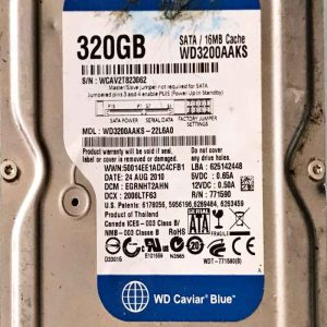 WESTERN DIGITAL 2000 GB WD3200AAKS-22L6A0 2060771590001 REV-P2