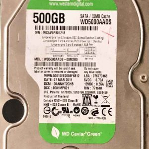 WESTERN DIGITAL 2000 GB WD500AADS-00M2B0 2060771640003 REV-A