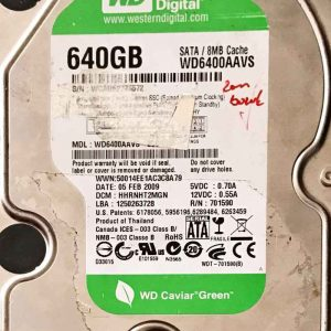 WESTERN DIGITAL 2000 GB WD6400AAVS 2060701590000 REV-A
