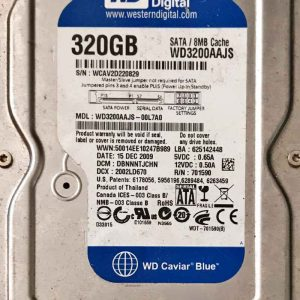 WESTERN DIGITAL 320 GB WD3200AAJS 2060701590001 REV-A