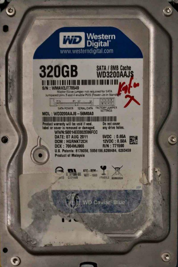 WESTERN DIGITAL 320 GB WD3200AAJS 20607715900001 REV-A