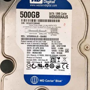 WESTERN DIGITAL 500 GB WD5000AAJS 2060701590001 REV-A
