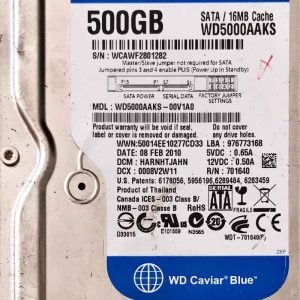 WESTERN DIGITAL 500 GB WD5000AAKS 2060701640002 REV-A