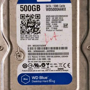WESTERN DIGITAL 500 GB WD5000AAKX 2060701537003 REV-A