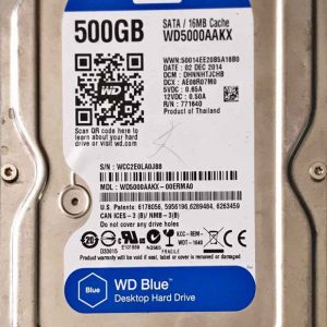 WESTERN DIGITAL 500 GB WD5000AAKX 2060701590001 REV-A