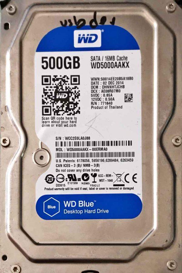 WESTERN DIGITAL 500 GB WD5000AAKX 2060701590001 REV-A