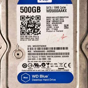 WESTERN DIGITAL 500 GB WD5000AAKX 2060701590001 REV-B