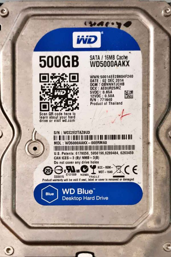 WESTERN DIGITAL 500 GB WD5000AAKX 2060701590001 REV-B