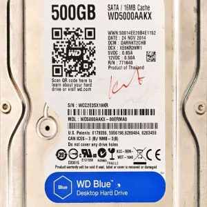 WESTERN DIGITAL 500 GB WD5000AAKX 2060701640002 REV-A