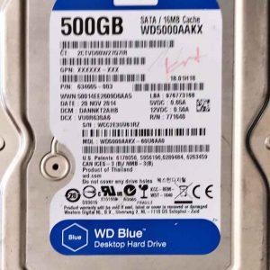 WESTERN DIGITAL 500 GB WD5000AAKX 2060771590001 REV-A