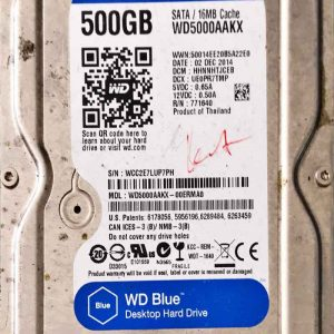 WESTERN DIGITAL 500 GB WD5000AAKX 2060771590001 REV-P2