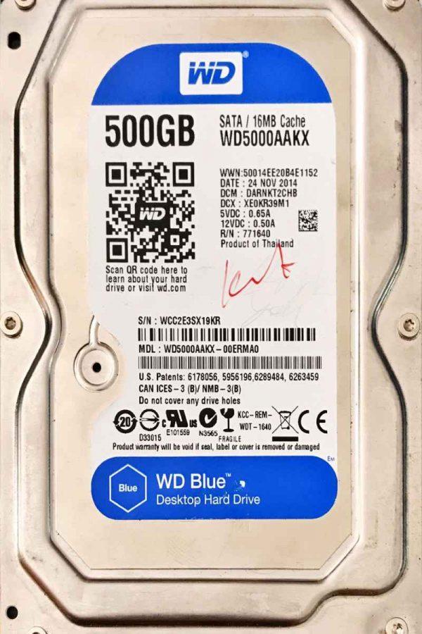 WESTERN DIGITAL 500 GB WD5000AAKX 2060771640002 REV-A