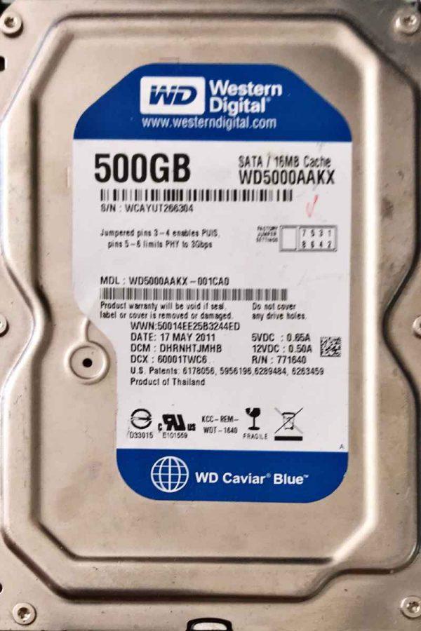 WESTERN DIGITAL 500 GB WD5000AAKX 2060771640003 REV-A