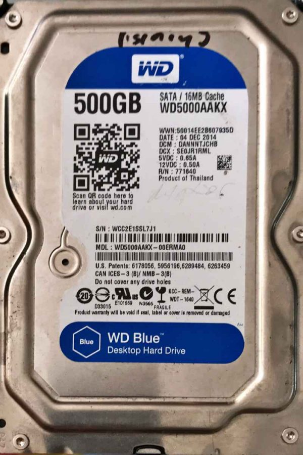 WESTERN DIGITAL 500 GB WD5000AAKX 2060771640003 REV-A