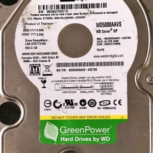 WESTERN DIGITAL 500 GB WD5000AAVS 2060701590001 REV-A