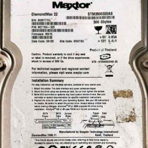 MAXTOR 500 GB STM3500320AS 100466725 REV-A