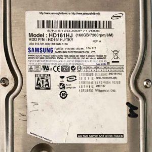 SAMSUNG 160 GB HD161HJTKY BF4100163AR00SM_8M REV01