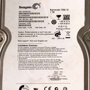 SEAGATE 1000 GB ST31000528AS 100536501 REV-A