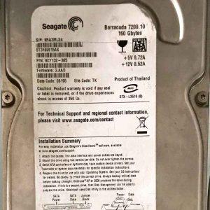 SEAGATE 160 GB ST3160815AS 100428473 REV-C