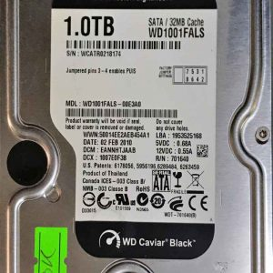 WESTERN DIGITAL 1000 GB WD1001FALS 2060701640002 REV-A