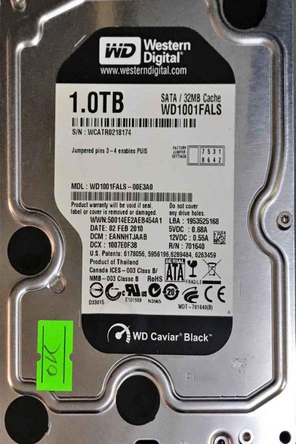 WESTERN DIGITAL 1000 GB WD1001FALS 2060701640002 REV-A