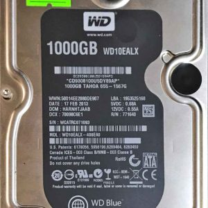 WESTERN DIGITAL 1000 GB WD10EALX 2060771640005 REV-A