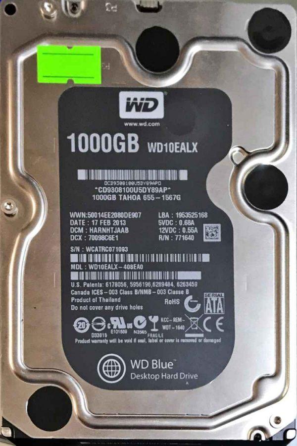 WESTERN DIGITAL 1000 GB WD10EALX 2060771640005 REV-A