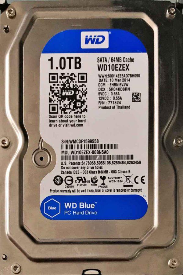 WESTERN DIGITAL 1000 GB WD10EZEX 2060771945001 REV-A
