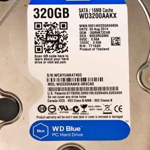 WESTERN DIGITAL 320 GB WD3200AAKX 2060701444004 REV-A