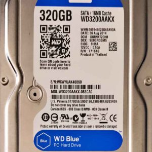 WESTERN DIGITAL 320 GB WD3200AAKX 2060701537003 REV-A