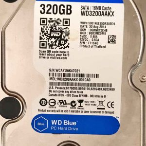 WESTERN DIGITAL 320 GB WD3200AAKX 2060701590000 REV-A