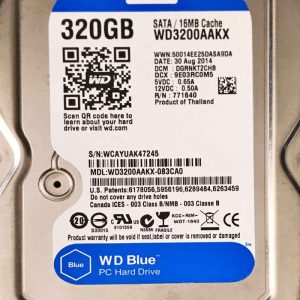 WESTERN DIGITAL 320 GB WD3200AAKX 2060701590001 REV-A
