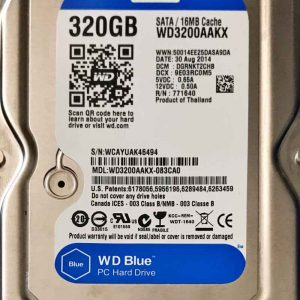 WESTERN DIGITAL 320 GB WD3200AAKX 2060701590003 REV-A