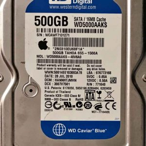 WESTERN DIGITAL 500 GB WD5000AAKS 2060771640002 REV-P2