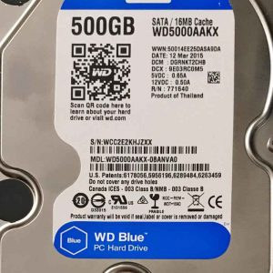 WESTERN DIGITAL 500 GB WD5000AAKX 2060701537004 REV-A