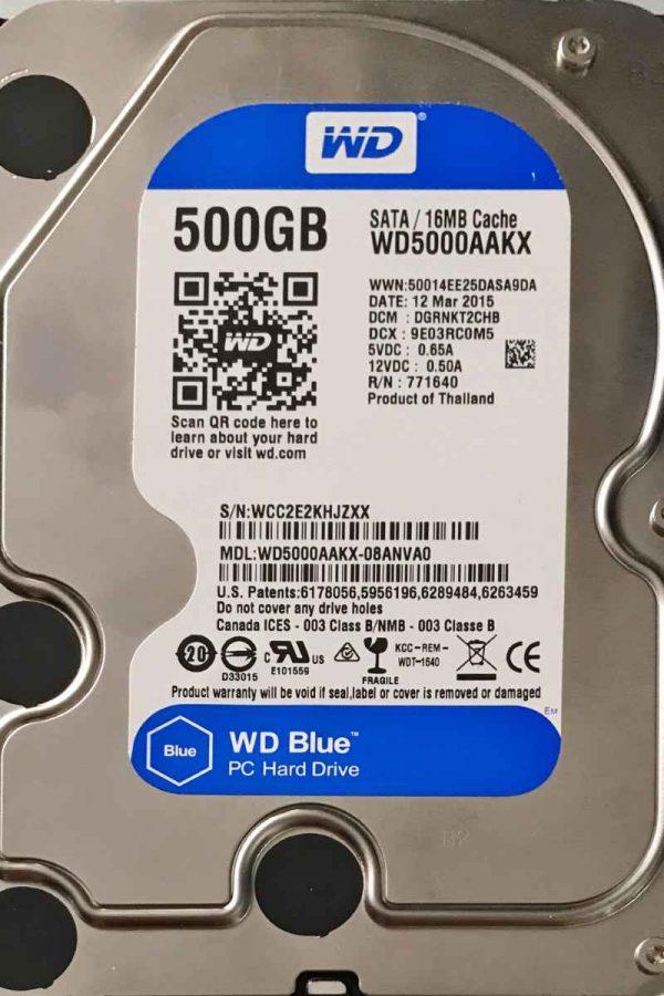 WESTERN DIGITAL 500 GB WD5000AAKX 2060701537004 REV-A