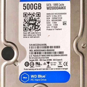 WESTERN DIGITAL 500 GB WD5000AAKX 2060701567000 REV-A
